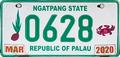 Palau license plate Ngatpang 2020 b.png