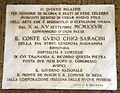 Palazzo chigi saracini, androne, lapide 01.JPG