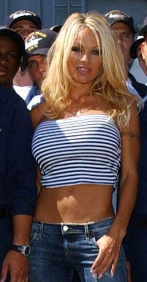 Pamela Anderson - Anderson aboard USS ''Ronald Reagan'', September 2004