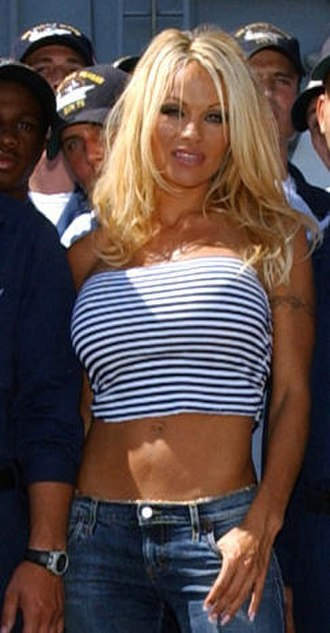 Pamela Anderson - Anderson aboard USS Ronald Reagan, September 2004