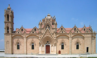 Christianity in Cyprus - Gothic-style church of Panagia (19th century) at the northern part of the island. Today it functions as a mosque.