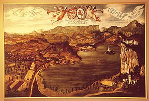 Bled - Panorama of Bled, 18th century