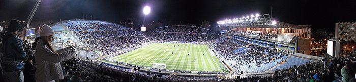 Photographie montrant le stade Vélodrome dans son ancienne configuration.