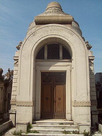 La Chacarita cemetery - French Philanthropic Society pantheon