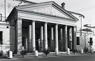 Giovanni Antonio Antolini - Ospedale degli Infermi, Castel Bolognese (built 1813). Photo by Paolo Monti, 1968.
