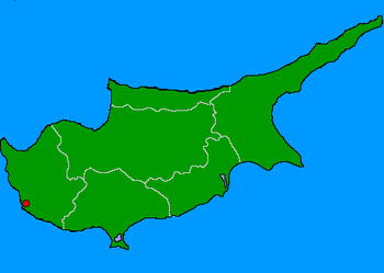 Map of Cyprus with Paphos