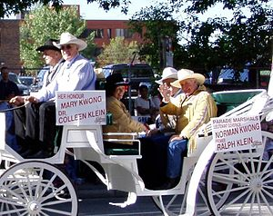 Ralph Klein - Ralph Klein serving as Marshal at the 2005 Calgary Stampede Parade