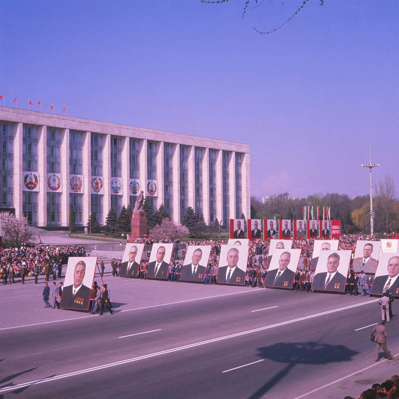 Parade of the May 1 demonstrations (70-ies). (6984904464)