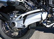 BMW's revised, inverted Paralever on an R1200GS Adventure.