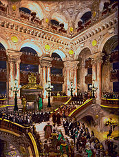 The opening of the Opéra Garnier