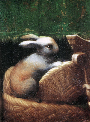 Circumcision of Jesus (Parmigianino) - Detail of a rabbit.