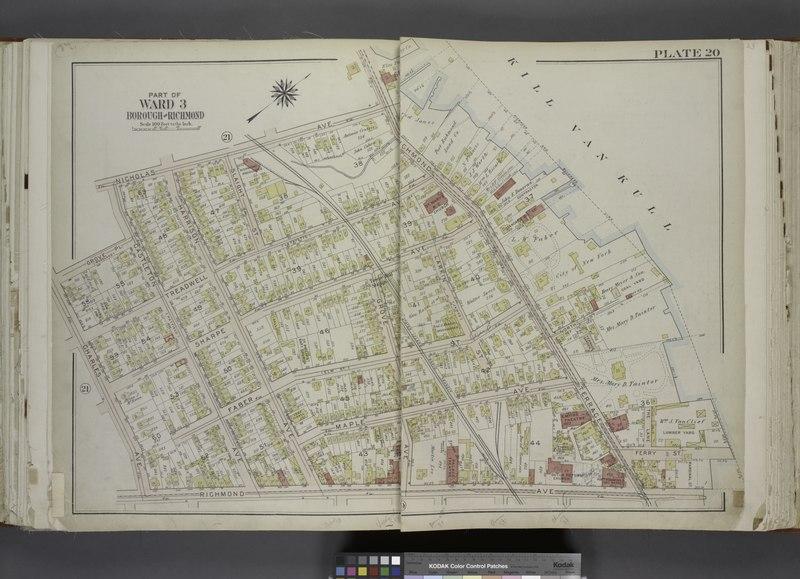 File:Part of Ward 3. (Map bound by Nicholas Ave, Richmond Terrace, Pierhead and Bulkhead Line, Richmond Ave, Charles Ave, Grove PL, Castleton Ave (Hatfield)) NYPL1646240.tiff