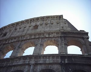 particular of the Colosseo of Rome