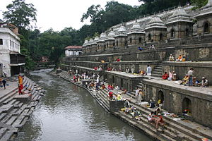 Bagmati River - Bagmati River at Pashupatinath Temple