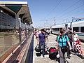 Passengers Dismounting from Afrosiyab Express Train - Samarkand Train Station - Samarkand - Uzbekistan (7480148270).jpg