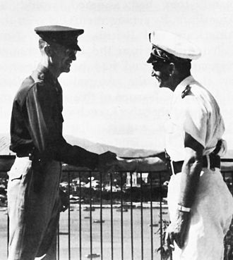 Georges Thierry d'Argenlieu - Georges Thierry d'Argenlieu (right) with Brigadier General Alexander M. Patch.
