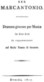 Pavesi - Ser Marcantonio - italian title page of the libretto, Dresden 1817.png