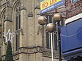 Pawnbrokers on Kirkgate, Wakefield, West Yorkshire with the cathedral behind (8th December 2020) 001.jpg