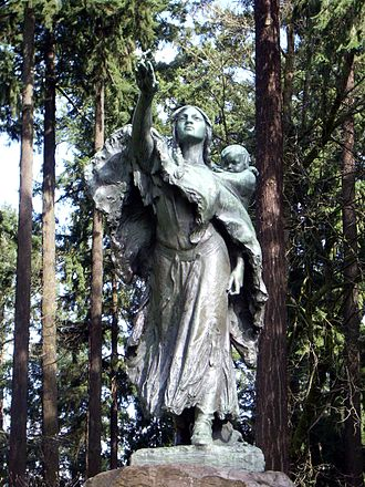 Sacagawea - Sacajawea and Jean-Baptiste (1905), Washington Park (Portland, Oregon), Alice Cooper, sculptor