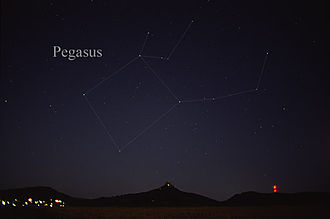 Pegasus (constellation) - The constellation Pegasus as it can be seen by the naked eye.