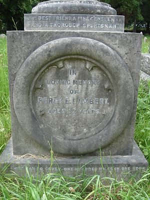Percy E. Lambert - Funerary monument, Brompton Cemetery, London