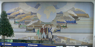 Amsterdam Amstel station - Mural by Peter Alma (1939).