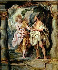 Le Prophète Élie nourri par un ange
