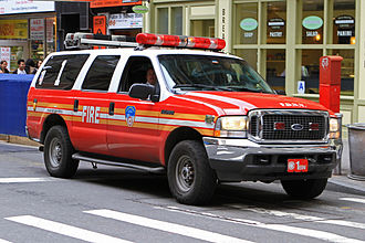 Organization of the New York City Fire Department - FDNY Battalion 1's SUV