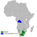 Petrochelidon spilodera distribution map.png
