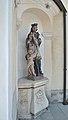 Pfarrkirche Peter und Paul, Gramatneusiedl - statue of John of Nepomuk.jpg