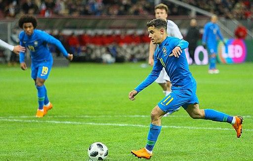 Philippe Coutinho - Russia v. Brazil - March 2018