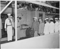 Photograph of President Truman touring the U.S.S. SARSFIELD during a voyage from Key West to the Dry Tortugas. - NARA - 200584.tif