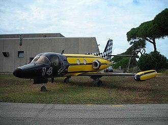 Piaggio PD.808 - PD.808 in a special commemorative colour scheme at the aircraft show Giornata Azzurra 2006