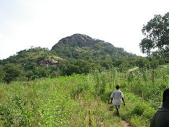 Centre-Sud Region - A mountain, Pic de Nahouri, in the region