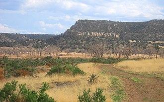 Comanche National Grassland - Picketwire Canyon is typical of the canyons in the Comanche National Grassland.