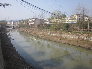 Chu River (Wei River tributary) watercourse in Peoples Republic of China