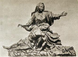 Manzat - Statue of Pietà