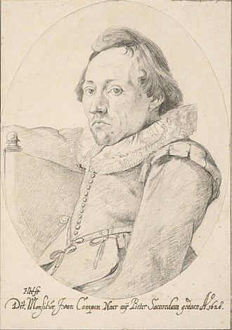 Pieter Jansz. Saenredam - Pieter Saenredam in 1628 by Jacob van Campen