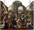 Pieter coeck van aelst, trittico con adorazione dei magi, annunciazione e riposo in egitto, da s.girolamo della cervara.JPG