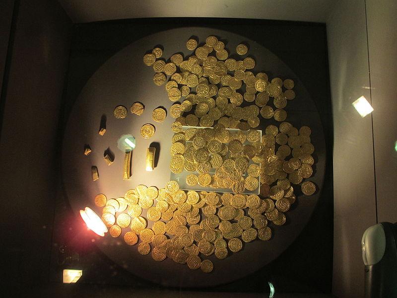 אוצר מטבעות זהב במוזיאון רמלה
