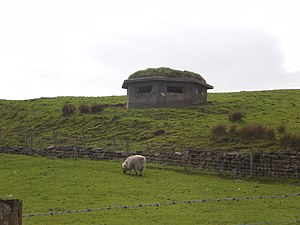 Briercliffe - Image: Pillbox off the side of Halifax Road geograph.org.uk 1292345