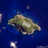 Satellite image of Pitcairn Island