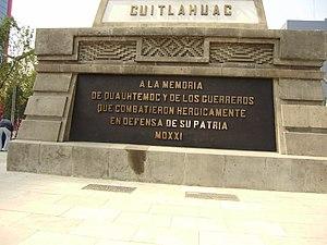 Placa Monumento Cuahutemoc