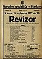 Plakat za predstavo Revizor v Narodnem gledališču v Mariboru 19. septembra 1922.jpg