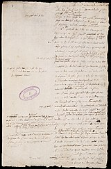 Page of the Plakkaat van Verlatinghe, the Declaration of Independence of the Netherlands