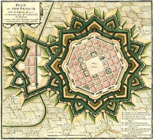 Plan citadelle Neuf Brisach