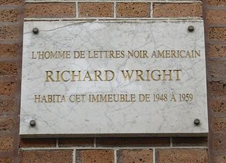 Richard Wright (author) - Plaque commemorating Wright's residence in Paris, at 14, rue Monsieur le Prince.