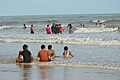 Playful People with Sea Waves - New Digha Beach - East Midnapore 2015-05-01 8808.JPG