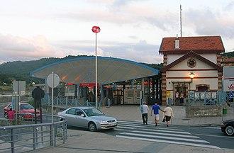 Plentzia (Metro Bilbao) - Image: Plentziako Metro Geltokia