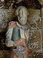 Plouha (22) Chapelle de Kermaria-an-Isquit Porche sud Apôtres 16.JPG